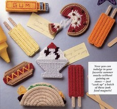 Summer Snacks Magnets Taco Pizza Plastic Canvas Pattern/Instructions Lea... - $1.50