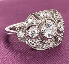 1.50Ct Round White Diamond 14K Gold Over Vintage Art Deco Art Deco Ring Era 1925 - $108.90