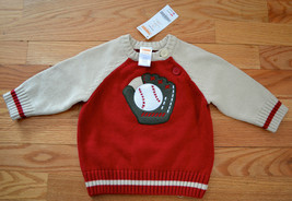 NEW! NWT Gymboree Boy's Sz 6-12 Months Baseball Sweater - $19.79