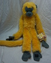 "Wildlife Artists ORANGE & GRAY LONG LEGGED MONKEY 17"" Plush STUFFED ANIM... - $16.34"