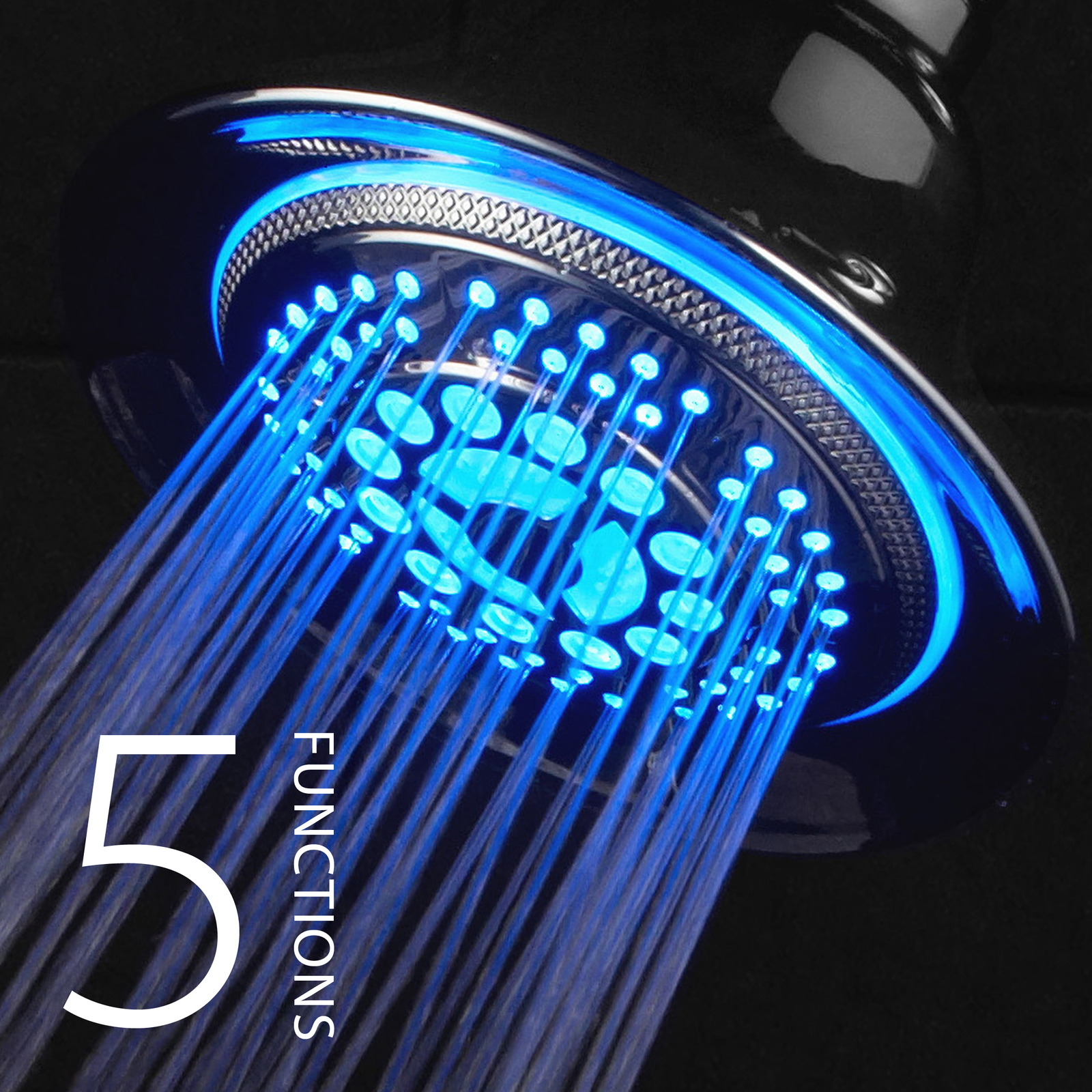 Primary image for DreamSpa 5-Setting Water Temperature Color-Changing LED Shower Head (All-Chrome)
