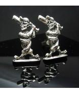 Vintage Baseball  Cufflinks LARGE silver Bat &  Ball Little League Coach... - $135.00