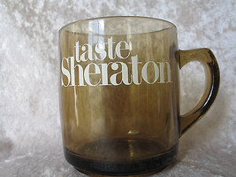 RARE VINTAGE TASTE SHERATON SMOKY BROWN COFFEE MUG COLLECTIBLE - $18.39