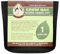 Gro Pro Premium Round Fabric Pot 1 Gallon, Black - $6.48