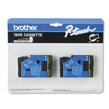 Brother P-Touch TC Tape Cartridges, 1/2w, Gold on Black, 2/Pack - BRTTC33 - $34.95