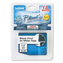 Brother P-Touch TZ Standard  Labeling Tape, 1-1/2w, Black on White - $26.55
