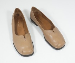 Antonio Melani Size 9.5 Brown Loafers Flats Leather Stitch Toe - $53.00