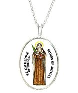 "St Catherine of Bologna for Artists 925 Sterling Silver 1"" Pendant & 20""... - $29.95"