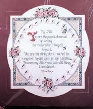 "Bucilla My Child Counted Cross Stitch Kit 40733 15"" x 15"" Poem Memories ... - $16.80"