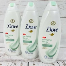 3 - Dove Body Wash Purifying Detox with Green Clay Nourishing Cleanses Renews - $21.75
