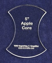 "Apple Core 5"" Height - Clear 1/4"" Thick Acrylic - $15.99"