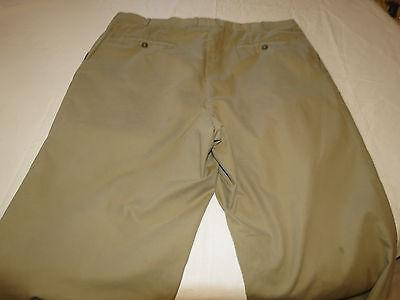 Mens Saks Fifth Avenue 371052 5813 woven in Italy khaki 42 R pants slacks EUC @