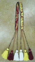 Native American Ceremonial Youth Yarn Belt 6 Ta... - $79.19