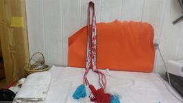 "Native American Red White Blue 61"" Yarn Belt  T... - $89.09"