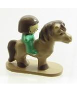 1989 Vintage Polly Pocket Doll Pony Club - Horse with Rider Bluebrid Toys - $7.50