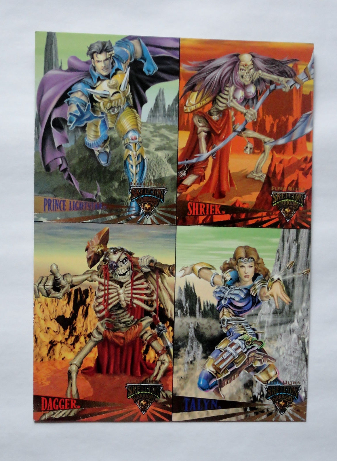 Cards Fleer Ultra 1995 Skeleton Warriors Promo Uncut Sheet