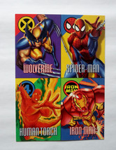 Cards Marvel 1996 Vision Fleer Uncut Promo Sheet Spiderman Wolverine Iro... - $8.59