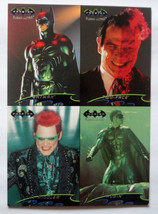 Cards Fleer Ultra Batman Forever 1995 Four Cards Uncut Promo Sheet 5x7 - $8.58