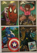 Cards Marvel Flair 1994 LOT 25 8-cards #47, 58, 60, 62, 63, 64, 65, 68 - $8.58
