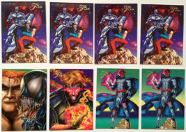 Cards Marvel Flair 1994 LOT 42 8-cards 4-133, 2-134, 1-140, 1-149 Havok - $8.58