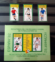 Stamps Bulgaria 1982 Sport Soccer Football Spain World Cup Championship ... - $24.12