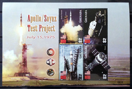 Stamps Grenada 2006 Apollo Soyuz Test Project Shuttle Discovery 2 S/S sh... - $24.12