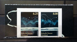 Stamps Greenland 2009 4 stamps Europa International Astronomy Aurore Bor... - $12.12