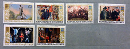 Stamps Guinea Republic 1977 Paintings Russian October Revolution Anniver... - $20.12
