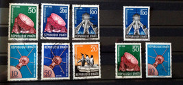 Stamps Haiti 1958 Space International Geophysical Year 9 stamps - $30.12