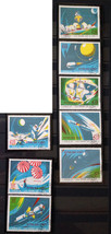Stamps Haiti 1970 Space parachute docking Earth orbit Apollo 12, 8 stamp... - $14.12