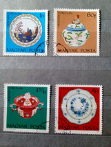 Stamps Hungary 1972 Art Paintings Herend Porcelain Vase Baroque Plate Herend - $10.00