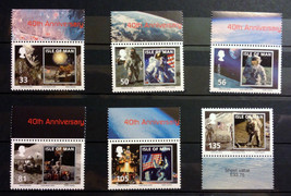 Stamps Isle of Man 2009 6 Stamps full Set 40th anniversary Apollo 11 space - $19.12