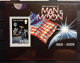 Stamps Isle of Man 2009 1S/S  40th anniversary Apollo 11 space - $12.12