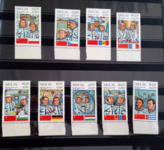 Stamps LAOS Space Cosmonautics day 1983 Complete Set - $18.12