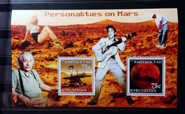 Stamps Kyrgyzstan 2003 Personalities on Mars Souvenir Sheet stamps - $10.00
