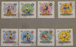 Stamps Mongolia 1982 World Cup Soccer Championships full set - $10.00