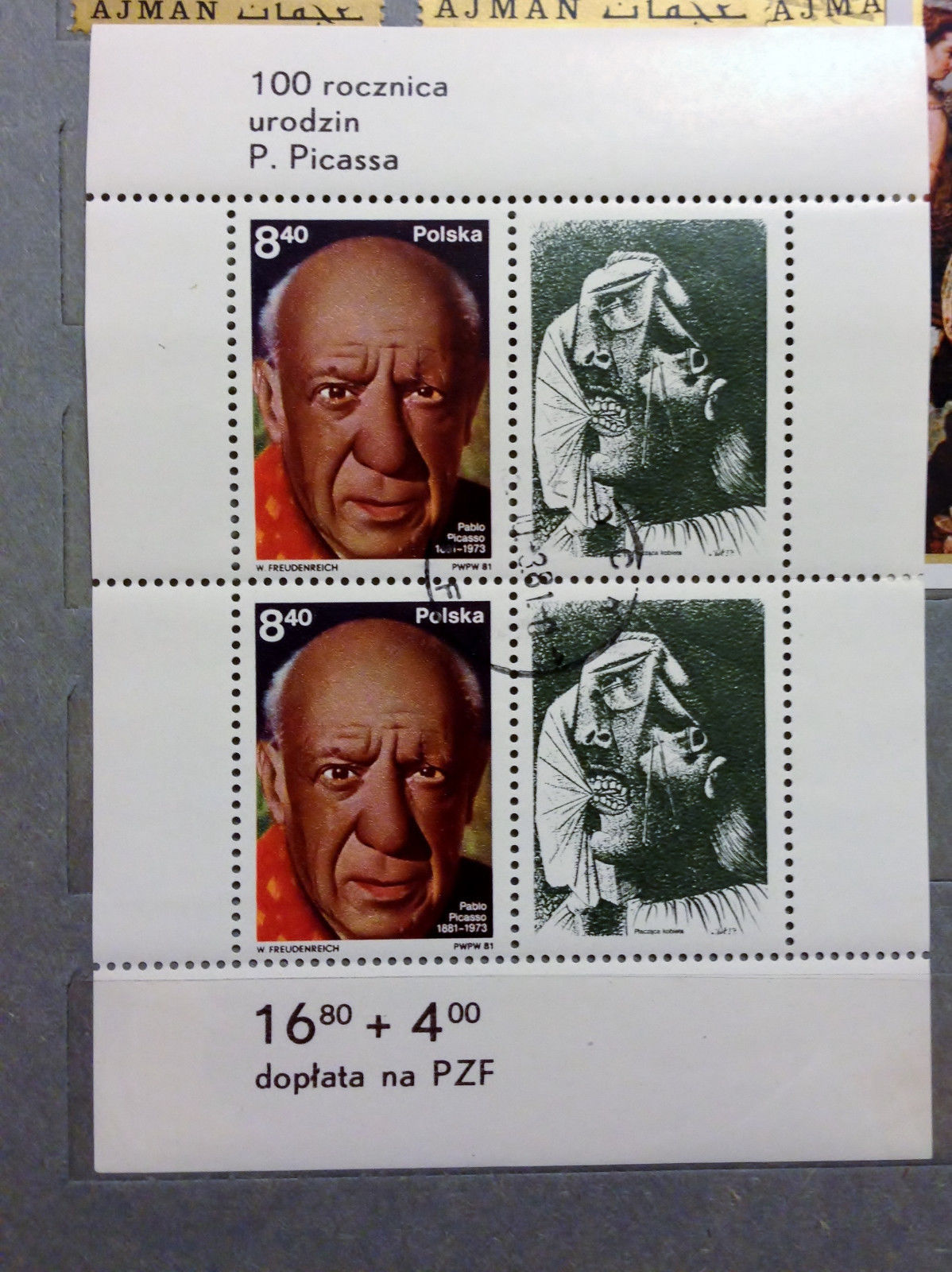 Stamps Poland 1981 Art Paintings Pablo Picasso birth centenary Crying Woman