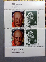 Stamps Poland 1981 Art Paintings Pablo Picasso birth centenary Crying Woman - $10.00
