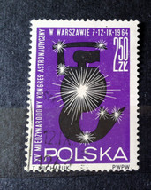 Stamps Poland Polska 1964 Space Warsaw Mermaid Stars 15th Astronautical ... - $10.00