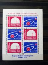 Stamps Poland Polska 1977 Space Sputnik 1 travel around the Earth - $10.00