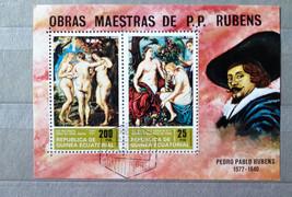 Stamps Republica de Guinea Ecuatorial Equatorial 1974 Painting Pedro Pab... - $24.12