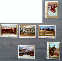 Stamps Romania 1977 art Paintings - $10.00