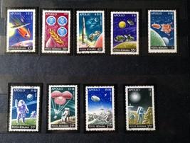 Stamps Romania 1972 Space Apollo 1 3 4 6 7 10 11 12 13 14 15 16 17, 3 Set of 9 - $35.12