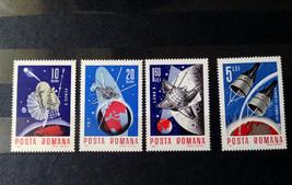 Stamps Romania 1966 Space Astronautic Luna 9 Gemini 6 7 FR-1 Venusik - $14.12