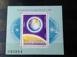 Stamps Romania 1981 Space  Planets of our solar system 1 Souvenir Sheet ... - $14.12