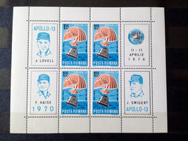 Stamps Romania 1970 Apollo XIII 13 1 S/S Souvenir sheet - $12.12