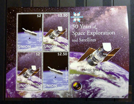 Stamps Saint Vincent Union 2009 50 years of Space Exploration space 1 S/... - $16.12