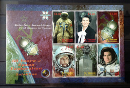 Stamps Saint Vincent Grenadines 2008 1 S/S 50 years Space Exploration Sa... - $12.62