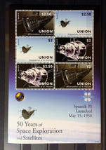Stamps Saint Vincent Union 2009 50 years of Space Exploration space 1 S/... - $13.12