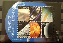 Stamps Sierra Leone 2009 1 S/S 50th anniversary Space Exploration 4 S/S ... - $52.12